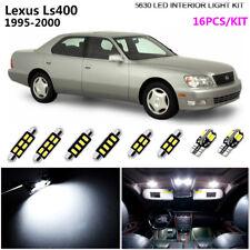 16Pcs LED Super White Interior Light For 1995-2000 Lexus Ls400 No Rear Spot Lamp