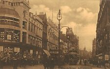Liverpool,U.K.Church Street,Trolley Car,Merseyside,Sepia-Color,c.1909