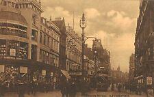 Liverpool,U.K.Church Street,Trolley Car,Merseyside,Sepia-Color,c.1909