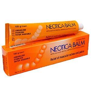 100g NEOTICA BALM Cream Analgesic Relief Muscular Ache Pain Strain Sprain Sport