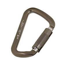 Durable 30Kn D Carabiner Self Lock Hook Rock Climbing Safety Gear Equipment