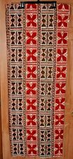 Vintage THC Hawaiian Textiles Fabric Tiki Native Abstract Bark Cloth 40 x 54