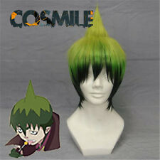 Ao no Exorcist Blue Exorcist Amaimon Mammon Green Cosplay Wig + Hair Cap Sa