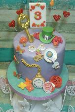 Mad Hatter,Tea Party,Alice in wonderland,Edible, Handmade Cake topper