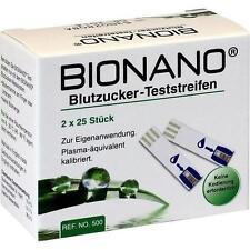BIONANO Blutzucker-Teststreifen 2X25 St