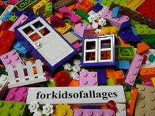 200 Bulk 100%Lego Lot Friends GIRL COLORS Purple Window Door Pink Bricks Blocks+