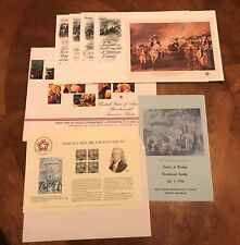 US 1976 Bicentennial Collection 4 Souvenir Sheet FDCs First Day Program + More  
