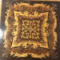 Vintage Marquetry Inlaid Wood Box Burled Wooden Sides Italian or Spanish 1118m