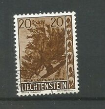 Liechtenstein 1960 Trees And Bushes 20r Brown Beech Very fine Used SG401