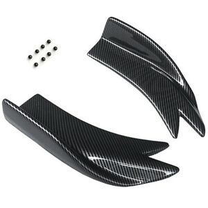 Car Body Rear Bumper Lip Diffuser Splitter Canard Side Skirt Protector w/ Screws