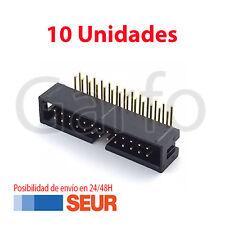 x10 Conector IDC Macho 26 Vias Pines PCB Acodado