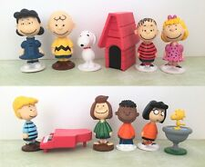 12 Pcs - Charlie Brown Snoopy CAKE TOPPER Figures Set Birthday Toy Doll Party