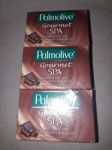 6X PALMOLIVE gourmet spa chocolate  soap 90g each. New old stock