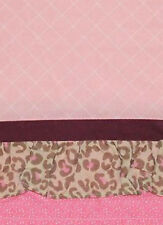 NEW Summer JULIETTE Window Valance 48x14 ~ Pink and Chocolate Brown NIP