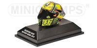1:8 AGV Minichamps Valentino Rossi Helmet Casco MotoGP Qatar 2014 NEW