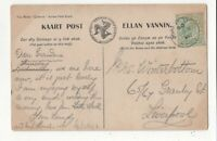 Laxey 9 Aug 1906 Single Ring Postmark Isle Of Man 110c