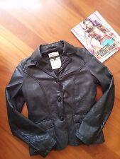 stock leather jacket BOMBOOGIE TG M (44) Dsquared² slim amk s/s NP 449€