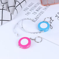 keychain 60in Retractable Ruler Measure Sewing Cloth Dieting Tailor Tape 150c*