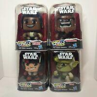 Star Wars Mighty Muggs Set of 4 - Yoda, Chewbacca, Poe Dameron, Finn
