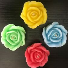 Rose shaped floaters - Candle Set
