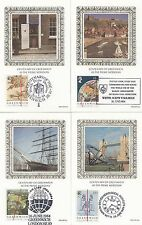 (46906) GB Benham FDC Greenwich Postcard set  26 June 1984