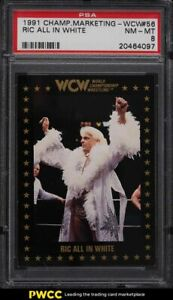 1991 Championship Marketing WCW Ric Flair All In White #56 PSA 8 NM-MT