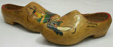 Vintage Hand Painted Wood Clogs Made In Holland