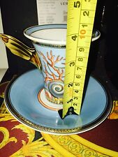 VERSACE LA MER CUP SAUCER SET HIGH ROSENTHAL NEW IN BOX RETAIL PRICE $300 SALE