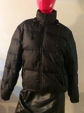 Alfani Outerwear Down Jacket/Puffer W/ Hidden Hood Black Ski Snowboard Size: M