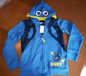 Disney Pixar Finding Dory Sweatshirt Hoodie Jacket Costume Youth Large 12/14 NEW