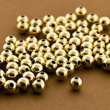 5mm Gold filled Round Beads, 50 PCS, Seamless Gold Beads, 14k 14/20 round Beads,
