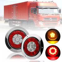 12V LED Rear Tail Light Lamp Brake Stop Truck Van Caravan Boat Motorhome Bus