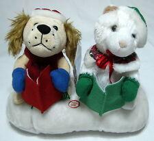 Singing Snow Pets Dog Cat Animated Musical Plush