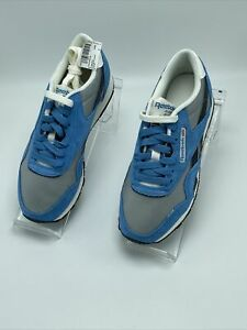 Reebok Mens Classic Nylon Running Shoes Blue Gray DV5797 Lace Up Low Top 4 M New