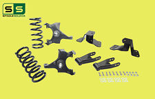 """88-98 Chevy GMC C1500 W/1.25"""" ROTORS 8 3""""/3-4"""" Drop Kit SPINDLE+COIL+HNGER+SHCKL"""