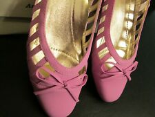 Pink Cut-Out Dressy Flats by Beacon, Size 7-1/2 N,  NIB