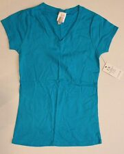 Womens ICON APPAREL Blue Shirt SIZE Large L Short Sleeve BRAND NEW NWT