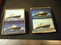 Vintage Rare United states Lines Cruise ship double deck playing cards