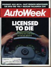 AutoWeek Magazine August 8, 1988 Peugeot 405 Mi16 Nascar Talladega 500