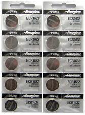 10 PACk ENERGIZER CR1632 ECR1632 1632 3V Lithium Coin Battery Expire 2025