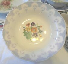 "Antique Crown Ivory China Serving Bowl 1930's Japan Approx 9"" Diameter"