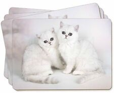 Exotic White Kittens Picture Placemats in Gift Box, AC-52P