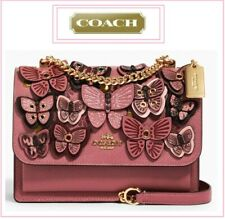NWT COACH KLARE BUTTERFLY Applique' Crossbody Shoulder Bag In ROSE MULTI Leather