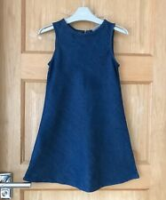 NEXT *8y GIRLS BLUE DENIM  DRESS  OUTFIT AGE 8 YEARS