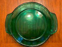"Anchor Hocking 9"" Green Glass Deep Dish Fluted Pie Plate Baking 1 Qt 23 CM"