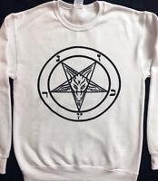 PENTAGRAM sweat shirt Satanic Clothing Witchcraft Satanism Horror sweatshir S-XL
