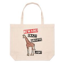 Méfiez-vous fou Girafe femmes Grand Plage SAC FOURRE-TOUT - Drôle courses épaule