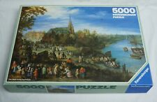 Complete RARE -Ravensburger Puzzle - 5000 Piece - 1991 - Village on the river