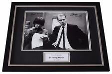 George Martin Signed FRAMED Photo Autograph 16x12 display Beatles Music COA