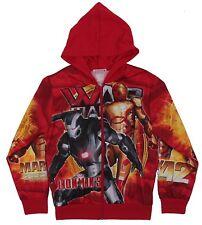 Kid's Marvel Original Iron Man 3 Camo-Red Full Zip-up Hoodie Size XL 10-12